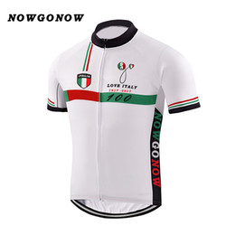 Wholesale El Clothing - Men 2017 cycling jersey tour Italy 100 yeah tour leader Commemorative Edition NOWGONOW road bike wear mountain clothing green red line