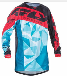 Wholesale Atv Shirt - New Long sleeves Jerseys Motorcycle Moto cycling DH Mountain Bike Bicycle Cycling Jersey MX ATV Off Road Wear Clot