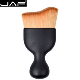 Wholesale Brush S - JAF S Shape Makeup Brush Wave Arc Curved Hair Shape Wine Glass Base Foundation Make Up Brush Pro Contour Kabuki Brush for Makeup