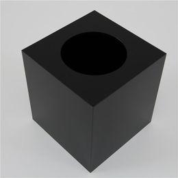 Wholesale Tissue Idea - Wholesale- Tall tissue box   high-grade black acrylic storage box   Desktop 2015 square towel tube rolls for new ideas listed