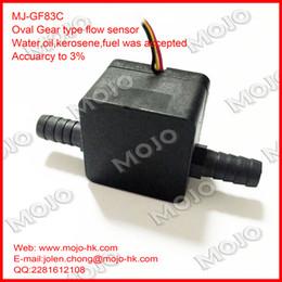 "Wholesale Fuel Meter - Wholesale- Free shipping!(20pcs) MJ-GF83C Oil meter G3 8"" barb 10mm Counter diesel gasoline Gear flow sensor Liquid Fuel Oil sensor"