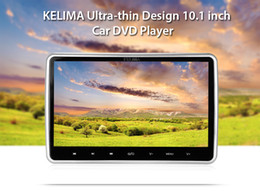 Wholesale Touch Screen Headrest Tv - Universal 12V KELIMA 10.1 inch 1024 x 600 2-DIN Headrest Car DVD Player Digital Touch Screen with FM IR Remote Control 201903101