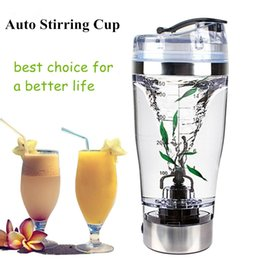 Wholesale Electric Warmer Warming Coffee - Electric Protein Shaker Blender Mixing Coffee Cup Continental Cup Lazy Self Automatic Stirring Mug Water Bottle