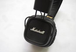 Wholesale Noise Computer - Marshall Major II 2.0 Bluetooth Wireless Headphones in Black DJ Studio Headphones Deep Bass Noise Isolating headset DHL free shipping