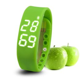 Wholesale Usb Sleep - Wholesale- USB W2 Smartband Bracelet Time Display Smart Watch with Calorie 3D Pedometer Temperature Sleep Monitor Waterproof Wristband P20