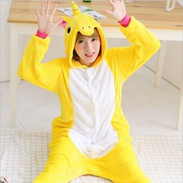 Wholesale Adult Kigurumi Onesies - Adults Winter Totoro Pajamas Flannel Pikachu Panda Unicorn Giraffe Cat Onesies Christmas Pyjamas Kigurumi Cosplay Costume