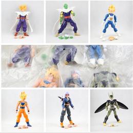 Wholesale Goku Set - dragon ball 6pcs set Dragonball Z Dragon Ball DBZ Anime 15cm Goku Vegeta Piccolo Gohan super saiyan Joint Movable Action Figure Toy
