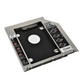 "Wholesale 2nd caddy - Wholesale- Universal 9.5mm Second HDD Caddy 2nd SATA 3.0 Hard Disk Drive 2.5"" SSD Enclosure for Macbook Pro Air etc CD DVD ROM"