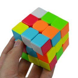 Argentina Colorido 3x3x3 Tres Capas Cubo Mágico Competencia Profesional Velocidad Cubo No Pegatinas Puzzle Cubo Mágico Juguete Fresco Niño supplier toys competition Suministro