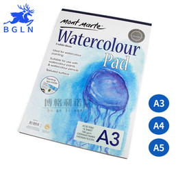 Wholesale A4 Art Book - Wholesale- Bgln A3 A4 A5 Watercolor Paper 15Seets Book For Drawing Painting Watercolor Painting Book Art Supplies Stationery