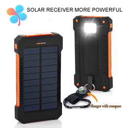 Wholesale Solar Mobile Battery Pack - TOP Solar Power Bank Dual USB Travel Power Bank 20000mAh External Battery Portable Charger Bateria Externa Pack for Mobile phone