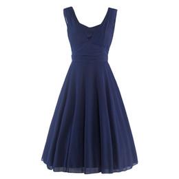 Вечернее платье сексуальное платье онлайн-Женское летнее платье Мода Sexy V-образным вырезом без рукавов Твердые сетки стежка Элегантный день рождения Vestidos качели платье
