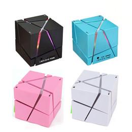Wholesale Music Cube Speaker - Portable Magic Cube LED Bluetooth Speaker Wireless Deep Bass Subwoofer For Phone MP3 Computer Music Xiaomi Loudspeaker