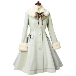 Wholesale Custom Trench Coats - Custom Tailored Lolita Trench Coat Sweet Fur Collared Daily Single-breasted Women's Long Coat