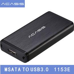 """Caso sdd hdd on-line-Venda por atacado- Acasis FA-2283 1.8 """"polegadas USB 3.0 mSATA Disco Rígido Externo HDD Recinto Caso Box SSD mSATA Reader Adaptador mSATA Para USB3.0"""