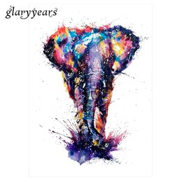 Wholesale Decal Elephant - Wholesale- Hot 1pc Water Transfer Fake Tattoo KM-077 Colorful Drawing Elephant Decal Waterproof Temporary Tattoo Sticker for Women Body Art