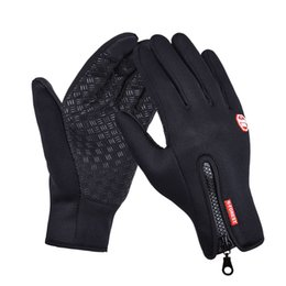 Wholesale Gloves For Bikes - Outdoor Sports Hiking Winter Bicycle Bike Cycling Gloves For Men Women Windstopper Simulated Leather Soft Warm Gloves