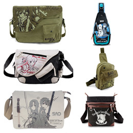 Wholesale Online Messengers - Wholesale- Anime Sword Art Online SAO Kirigaya Asuna Canvas Messenger Bag Satchels Shoulder Bag Sling Pack Cosplay
