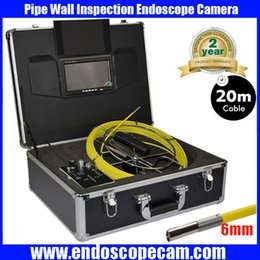 Wholesale System Pipe Inspection - Amazing 6mm waterproof Sewer Line Pipe Inspection camera 6mm Scanprobe Pipe Inspection Camera System with 20m cable freeship