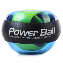 Wholesale Wrist Power Exercise - Wrist Power Ball Roller with Strap Gyroscope Force Strengthener Hand Ball Wrist Exercise For sportsman Computer Typist Pianist +B