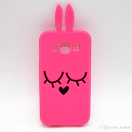 Wholesale Note2 3d Cases - Cute 3D Cartoon Bunny Rabbit Phone Case for Samsung Galaxy Note2 Note 3 Note 4 Note 5 Note3 Note5 A3 A5 A7 J1 J2 J5 J7 Silicone Cover