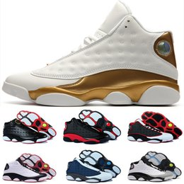 Wholesale Games Money - 2018 men 13 basketball shoes Low Chutney Navy blue Pure Money Chicago black cat DMP He Got Game Playoff Barons Sneakers