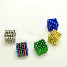 Wholesale Wholesale Neodymium Magnet Cube - Colorful 216 pcs 3mm neo cube magic neodymium beads magnet cube puzzle magnetic balls decompression Neokub toy birthday present for kids