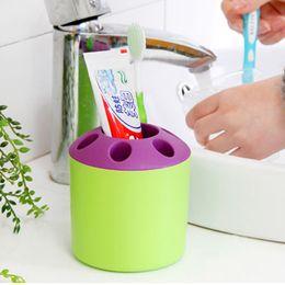 Wholesale Toiletries Rack - special Toiletries Porous Couple Multifunction creative toothbrush holder toothpaste holder mouthwash multi-function desktop pen holder rack