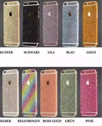Wholesale Diamond Decorations Stickers - Bling Full Body Wrap Film Decal Cover Bling Diamond Glitter Skin Sticker Case Phone Decoration For iPhone 5 6 7 7Plus