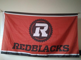 Wholesale Canadian Flags - Ottawa Redblacks Flag 90 x 150 cm Polyester CFL Canadian Football League Fans Banner
