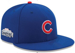 Wholesale Wholesalers Fitted Hats - 2017 champions cap chicago cubs caps hats world seris hat nonadjustable Fitted champs baseball caps snapback hats Baseball fans gifts sale