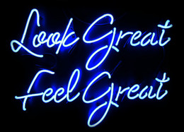 Wholesale display felt - Fashion New Handcraft Neon sign Look Great Feel Great Real Glass Tubes For Bedroom Home Display neon Lighht sign 14x9!!!