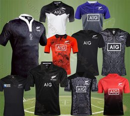 Wholesale Black Years - all Free Shipp New Zealand 17-18 blacks rugby jersey 2017 home away red men rugby shirts NZ blacks Maori 100th years special edition jerseys