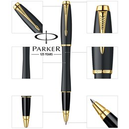 Wholesale Metal Office Gift - 6 Colors Parker Urban Rollerball Pen Business Stationery Silver Gold Clip Parker Roller Ball Pen Luxury Gift Writing office school Supplies