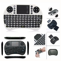 Wholesale Andriod Tv Box Keyboard - Mini Wireless keyboard with Touchpad 2.4G Fly Air Mouse Combo Teclado for HDPC Win7 Pad for Xbox360 for PS3 for Andriod TV Box