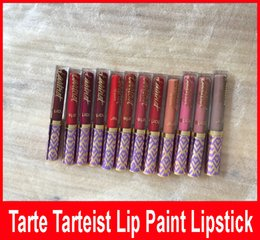 Wholesale Factory Direct DHL New Hot Makeup Tarte lipstick Lip Paint Matte Liquid lipstick Lip Gloss colors