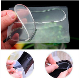 Wholesale Foot Liners - self-adhesive Shoe insoles Heel Paste Silicone Gel Anti-Slip Pad Insole Foot Care heel cushion Protector Relief Gel Heel Liner Grips KKA2091