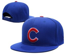Wholesale Cubs Team - 2017 Free shipping hot New high quality Chicago Cubs Baseball Team adjustable Hats Sport Snapback Hats Fashion Hip Hop Flat Baseball Caps