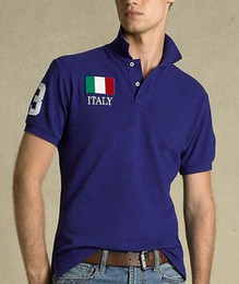 Wholesale Men S Fashion Usa - American Fashion Cotton men Clothing USA Italy France Flag Print Male Slim Polo t shirt Man T-shirts Casual Shirt mens tops Sports tees