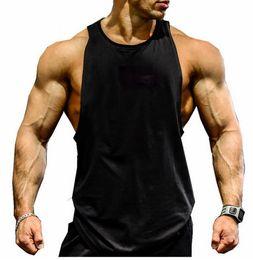 Wholesale Solid Tank Tops - Man Stringer Singlet Tank Top Gym Vest Bodybuilding Clothing muscleman tank tops