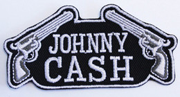 Wholesale Hot Johnny - Hot Sale 2017 Custom Design Logo Name JOHNNY CASH GUNS PATCH Iron On T-shit Cap Bag Free Shipping