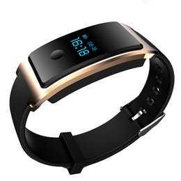 Wholesale 2017 FITBIT Xiaomi TW64 Heart Rate Monitor Smart Bracelet Touch Screen Alarm Clock Tracker IP67 Waterproof Interchangeable Wristbands