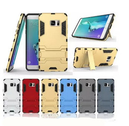 Wholesale Stand Man Iphone - Iron Man Super Protection 3 in 1 TPU+PC+Stand case for Samsung Galaxy s7 s7 iphone 7 7plus Classf back cover case with holder
