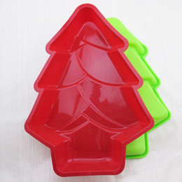 Wholesale Silicone Tree - Christmas Tree Shape Baking Moulds Cake Muffin Chocolate Baking Mold Tool Silicone Diy Kitchen High Temperature Random Color