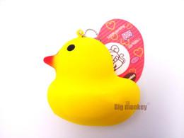 Wholesale Duck Big - yellow duck cartoon 8CM squishy for charm   free shipping,squishy charm