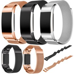 Wholesale Gold Watch Bands For Sale - Wholesale- New Arrival 2016 Brand Watch bands Rose Gold Stainless Steel Bracelet Smart Watch Band Strap For Fitbit Charge 2 Strap Hot sale