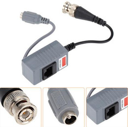 Wholesale Bnc Audio Balun - New Arrival CCTV Camera Accessories Audio Video Balun Transceiver BNC UTP RJ45 Video Balun with Audio and Power over CAT5 5E 6 Cable