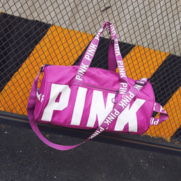 Wholesale Luggage Wholesalers - Love fashion Storage Bag Pink Duffel Bags Unisex Travel Bag Waterproof Beach Exercise Luggage Bags DHL free shipping