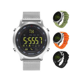 Wholesale Wholesale Italian Lighting - Light EX18 Smart Watch Men Sport Watch 5ATM IP67 Waterproof Bluetooth 4.0 SmartWatch Pedometer Call reminder for iOS Android Phone