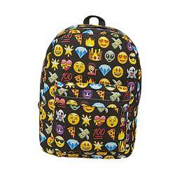 Wholesale Girls Bag For Children - Wholesale- New 2016 Women Emoji Printing School Bags Children Canvas Backpacks For Teenager Girls Eater series of large-capacity
